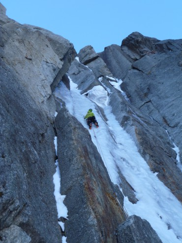 Envers des Aiguilles, Sorenson Eastman IV 5+. Photo: Tatu Autio