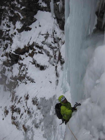 Our good friend Maxime Belleville on ice in Italy