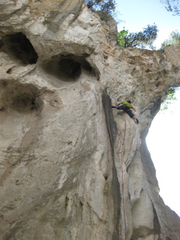 Funky cave in Finale, Italy. Photo: Satu Kataja