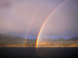 Double rainbow at Beagle channel