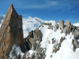 Jouni on Cosmiques ridge