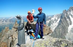 Sami and Cyrilde at the summit